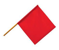 safey-flag-on-pole-dark-red